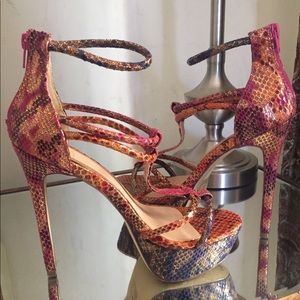 Shoes - Multi colored heels
